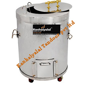 Stainless Steel Round Tandoor with Wheel