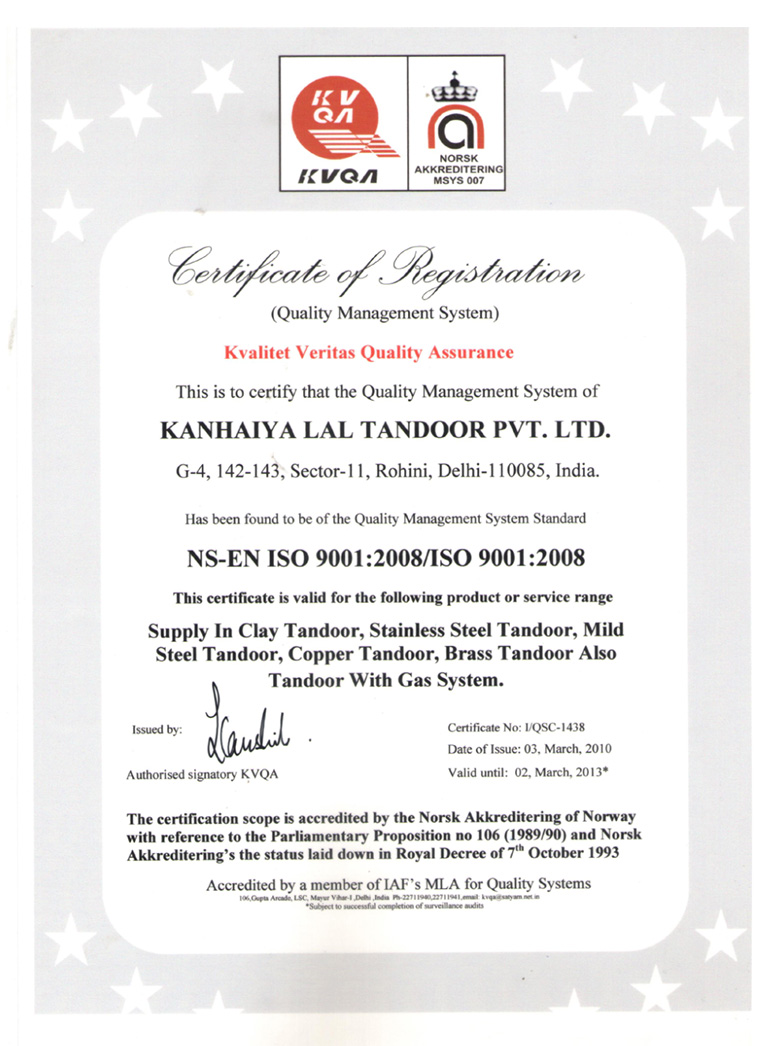 ISO CERTIFICATE 2010-13